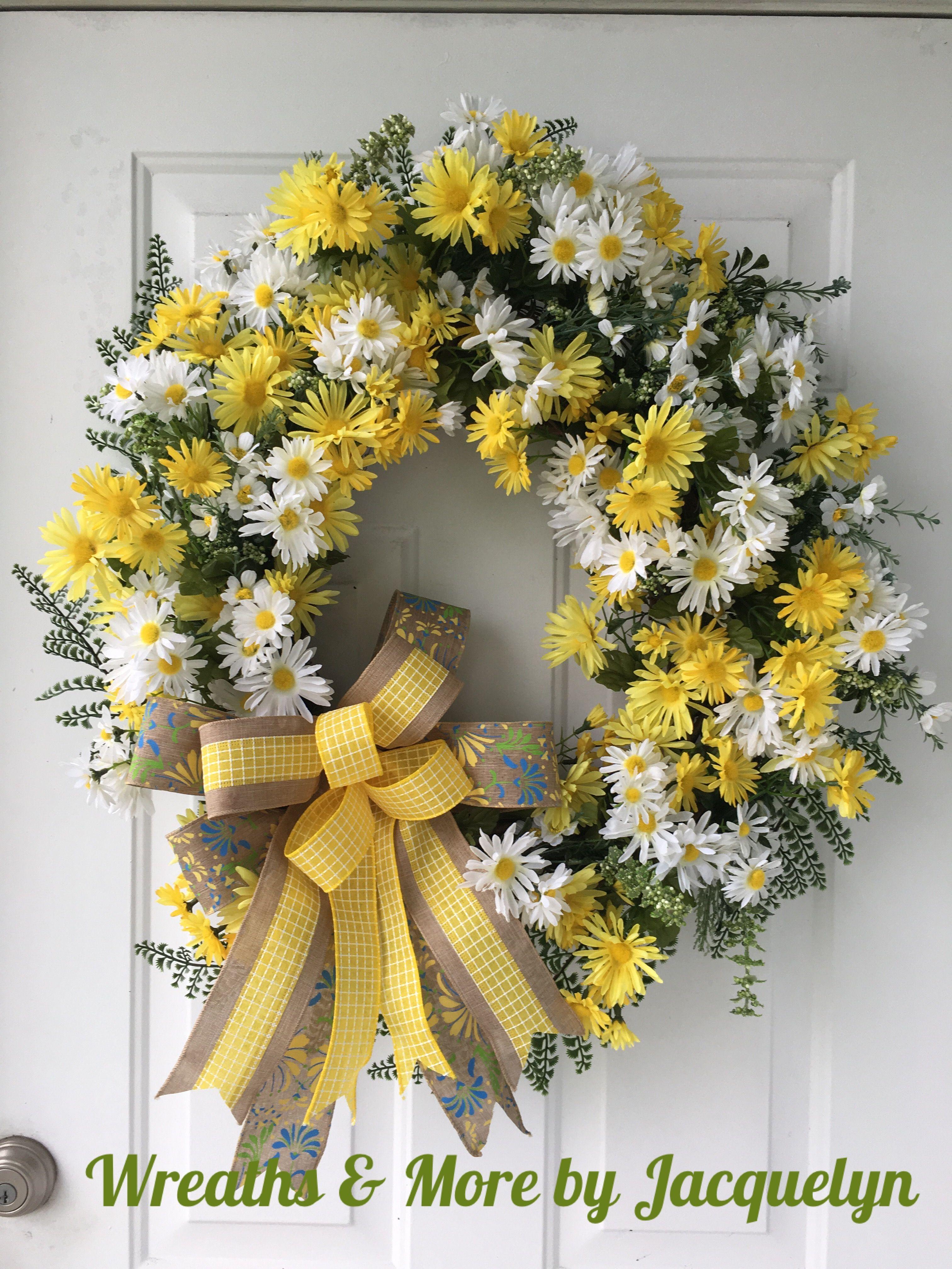 Beau Spring Daisy Flower Wreath, Daisy Door Decor, Daisy Home Decor, Gifts,  Summer