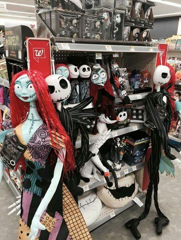 the nightmare before christmas store display at walgreens