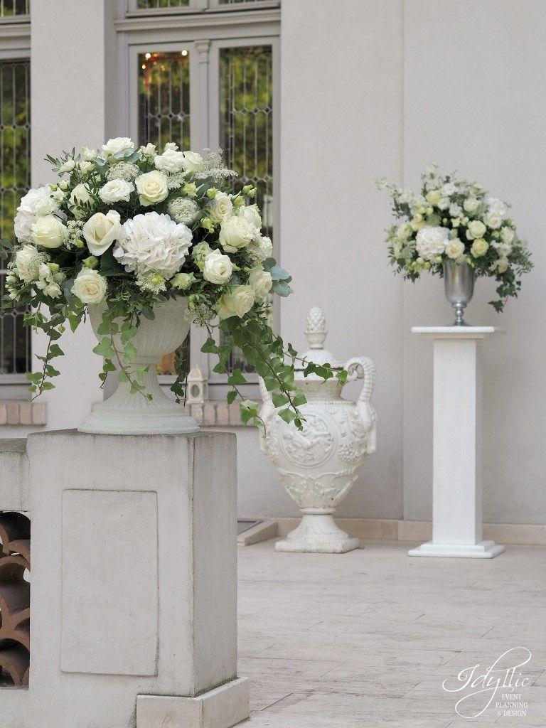 Aranjamente Florale Exterioare Nunta Wedding în 2019 Wedding