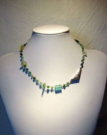 Necklace - Roman glass and sterling silver