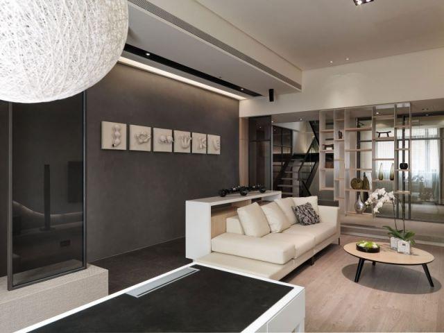 Wohnzimmer einrichten Ideen in Weiß, Schwarz und Grau Farben - wohnung einrichten ideen wohnzimmer