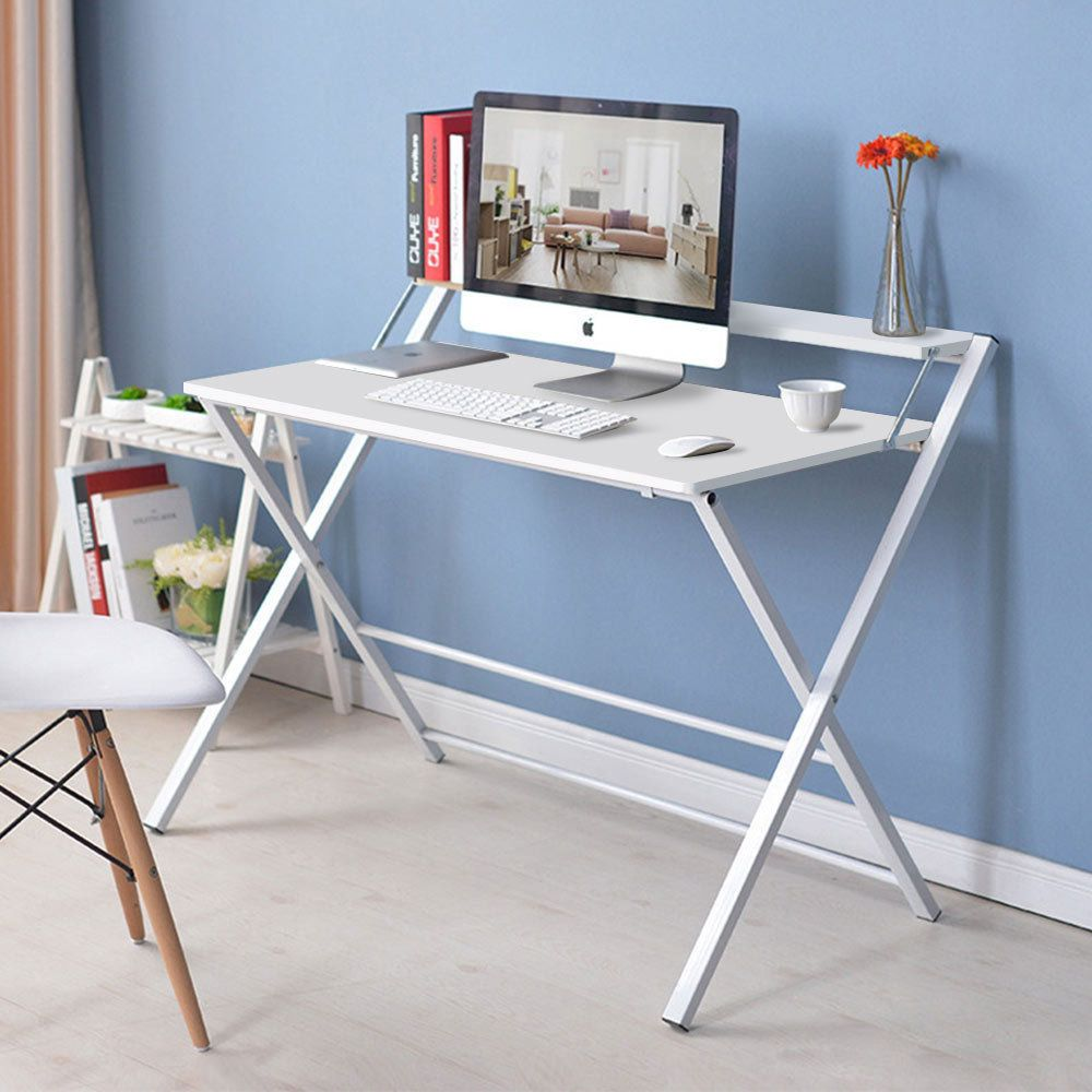 Stupendous Foldable Computer Desk Folding Laptop Pc Table Home Office Home Interior And Landscaping Palasignezvosmurscom