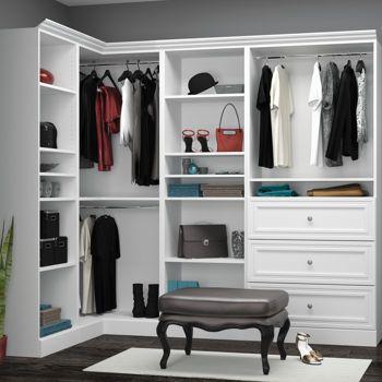 Exceptionnel Costco: Organize It U2013 Corner Closet U2013 White Walking Closet, Master Bedroom  Closet,