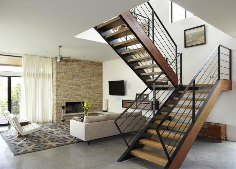 Déco cage escalier : 50 intérieurs modernes et contemporains | Salons