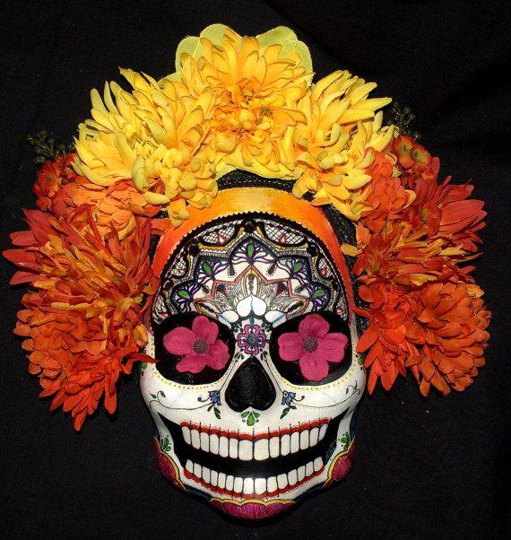 Sunrise Mask for Day of the Dead Sugar Skull ART..