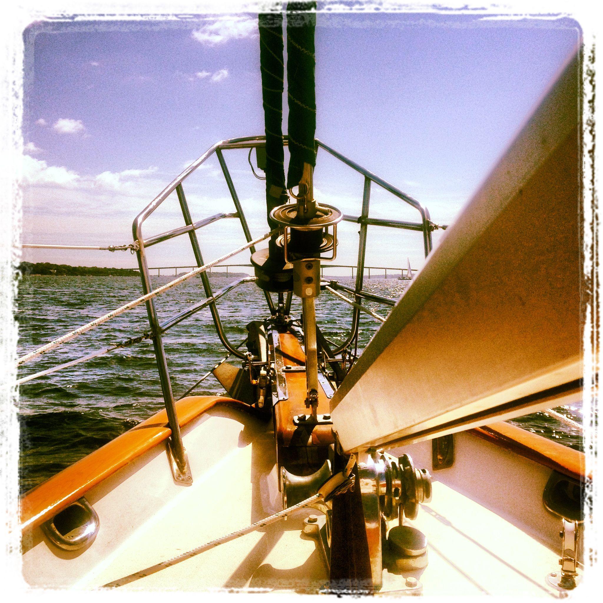 Sailing towards Jamestown, RI - 8.26.2012