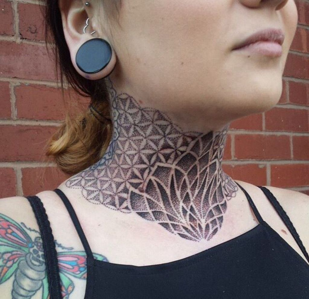 Geometric Designs Tattoo Neck: Neck Tattoo On Pinterest Intended For Geometric Neck