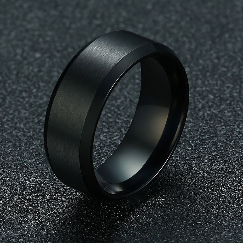 Black Stainless Steel Men Rings Wedding Bands Trendy Engagement 8mm Male Gifts 31 95 Https Th In 2020 Stainless Steel Wedding Ring Rings For Men Titanium Steel Rings