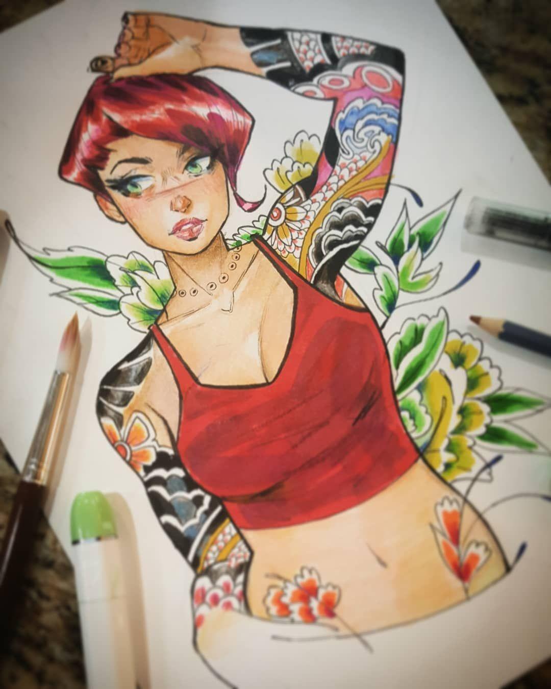 More Gratuitous #watercolor #marker #coloredpencils