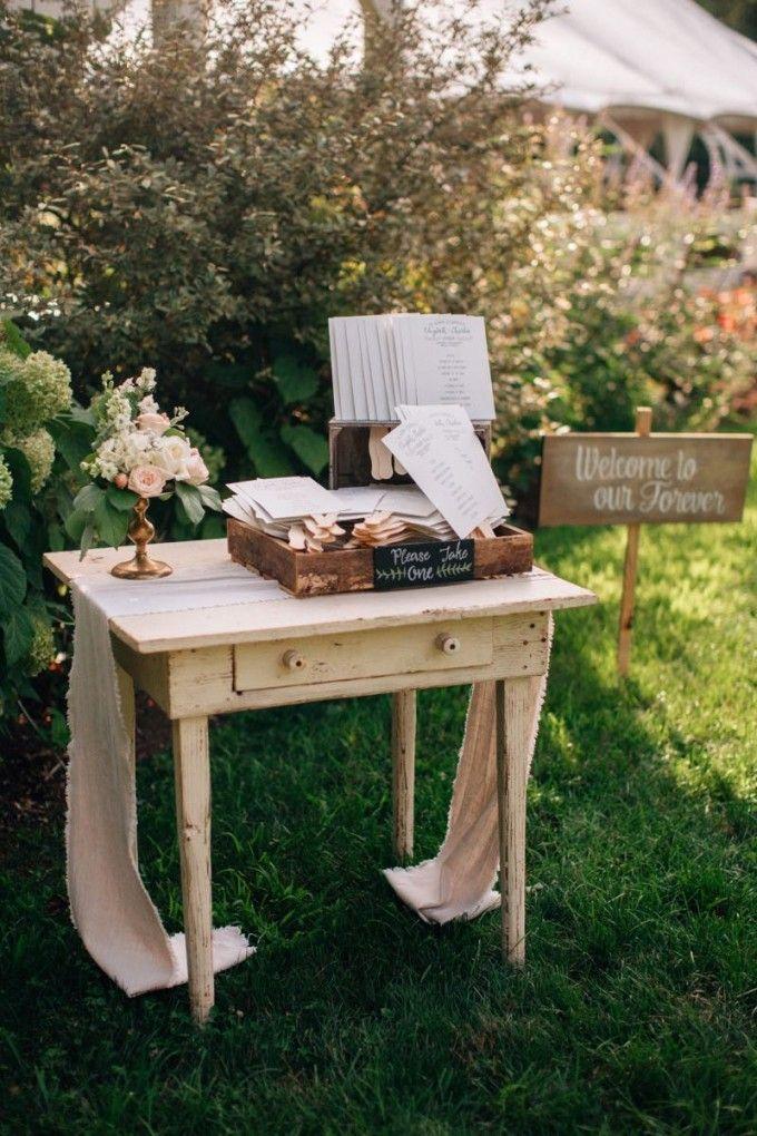 Al Fresco Farm Program Station Cedarwoodweddings Softly Lit Outdoor Wedding Elizabethcharlie Cedarwood Weddings Weddings Pinterest Wedding And