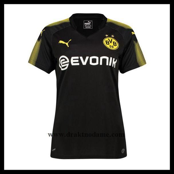 Ekte Billige Fotballdrakter Borussia BVB Borussia Fotballdrakter Dortmund Dame 2017 2018 3aedd9