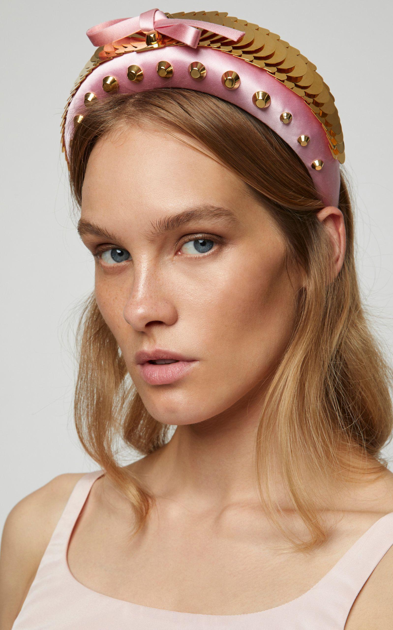 a10d8dc45082 Sequin Studded Satin Headband by PRADA for Preorder on Moda Operandi