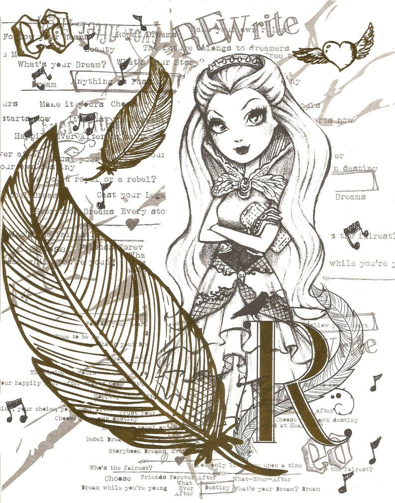 Colouring pages for ever after high - Ever After High Color Page 3 By Obscurepairing On Deviantart