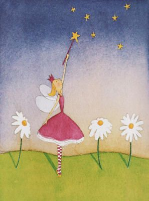 Felicity Wishes I Art Print By Emma Thomson Easyart Com Framed Art Prints Girls Room Wall Art Fairy Artwork