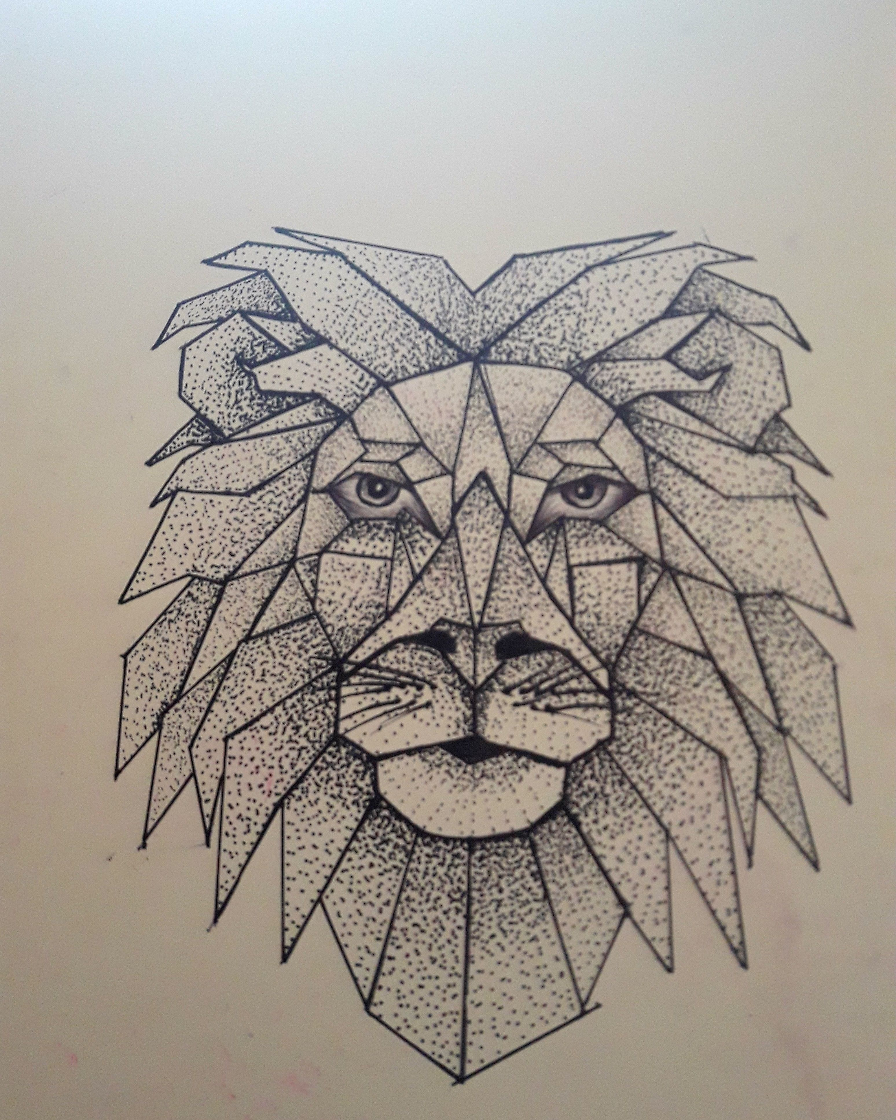 lion point par point tatouage tattoo dessin eclectic cats pinterest piercing and tattoo. Black Bedroom Furniture Sets. Home Design Ideas