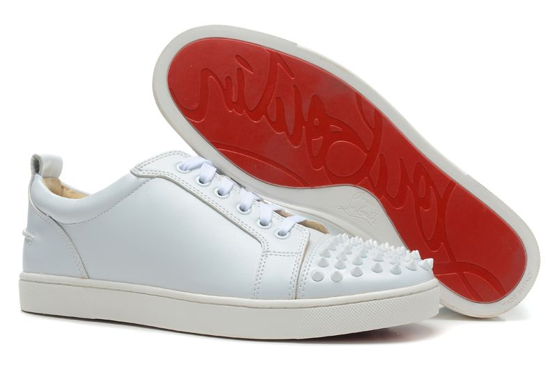 low priced fa87e bbb70 Christian Louboutin Designer Louis Junior Spikes Sneakers ...