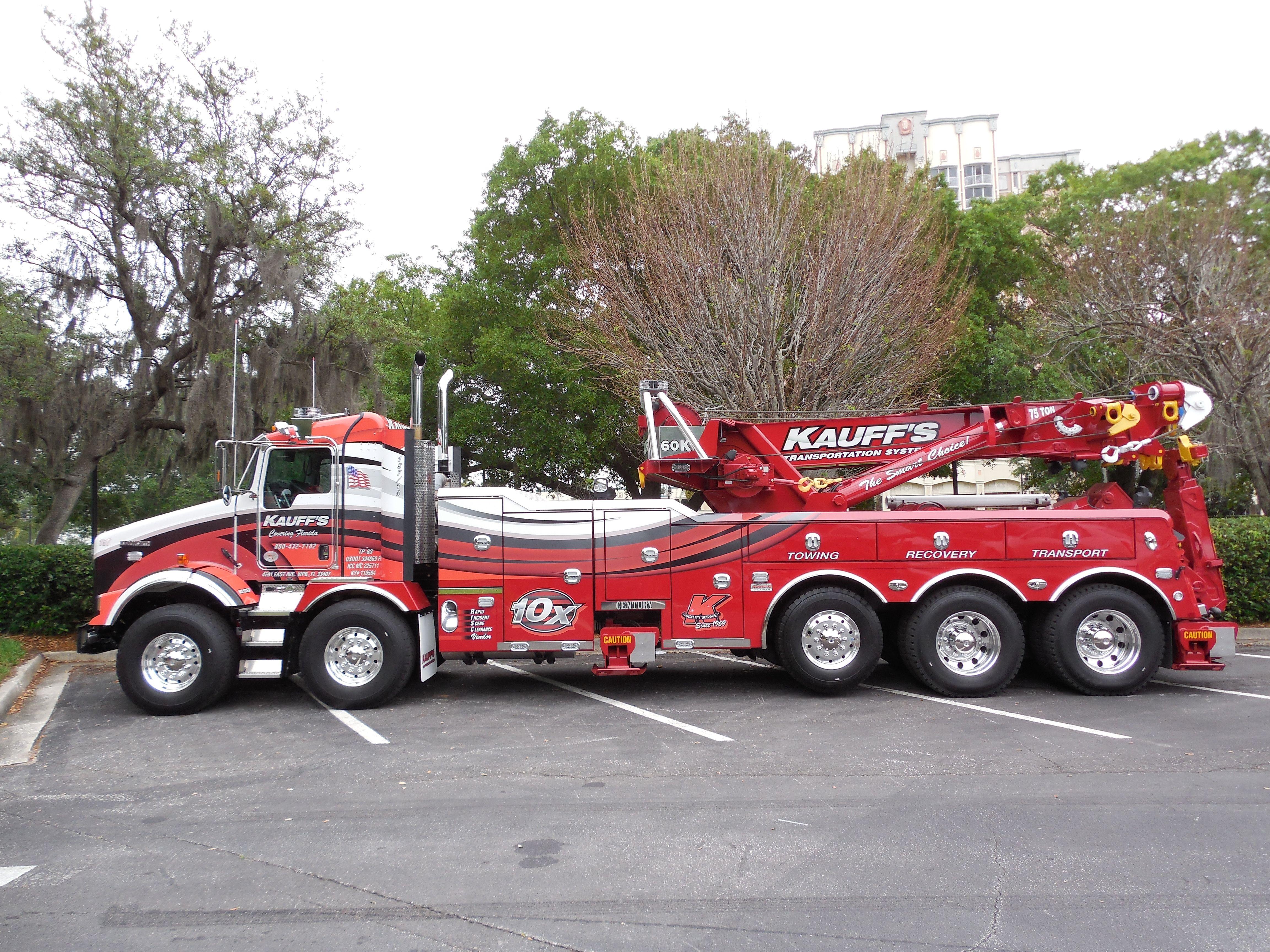 Kauff s Transportation Systems West Palm Beach FL Kenworth T800
