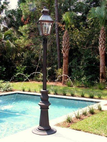 Portable Outdoor Propane Post Lantern