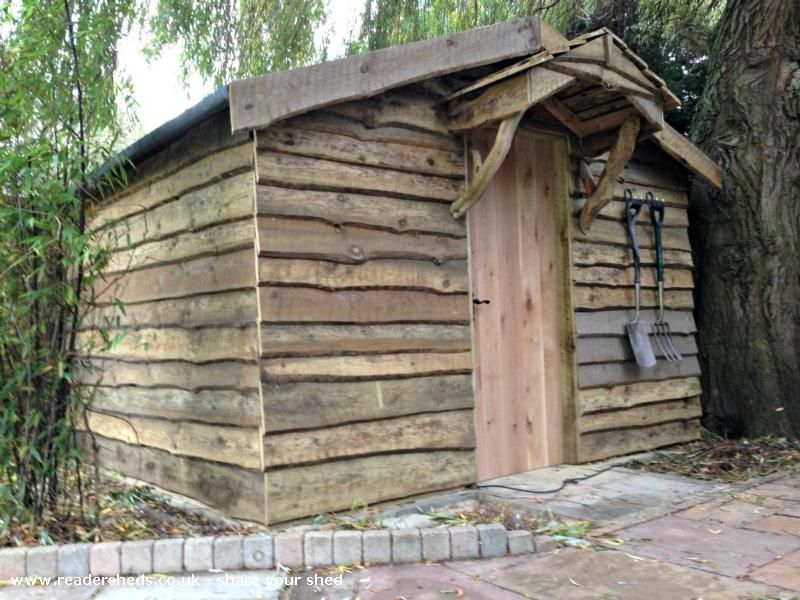 pallet shed extension with waney edge cladding normal. Black Bedroom Furniture Sets. Home Design Ideas