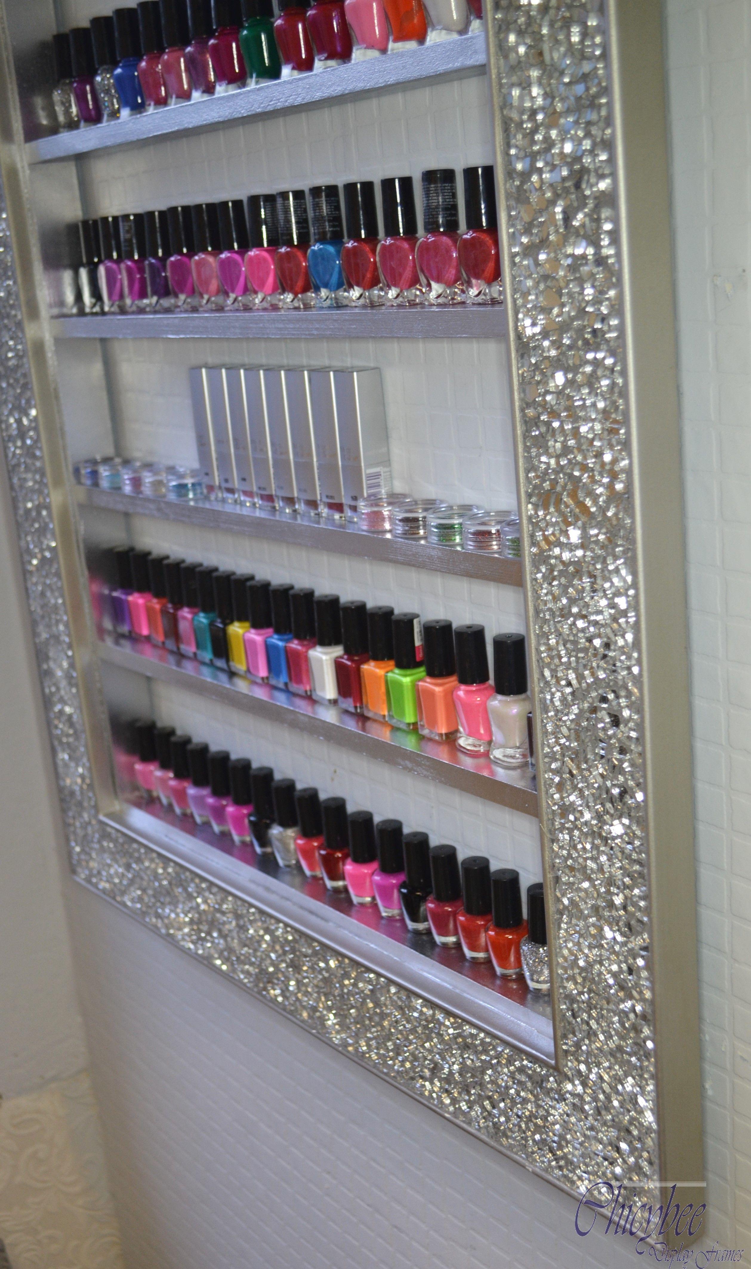 Mosaic Crackle Mirror Nail Polish Rack for OPI CND GELISH polish ...