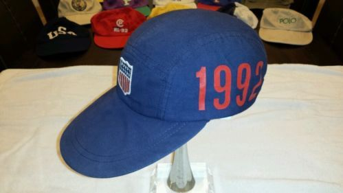 b8e0d603534 Vintage Polo Ralph Lauren 1992 Blue Stadium hat cap Olympics P wing Holy  Grail. Sold on eBay for over  4000! www.SnapPost.com