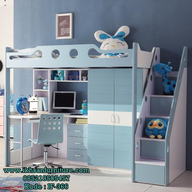 Jual Tempat Tidur Tingkat Anak Laki laki Multifungsi