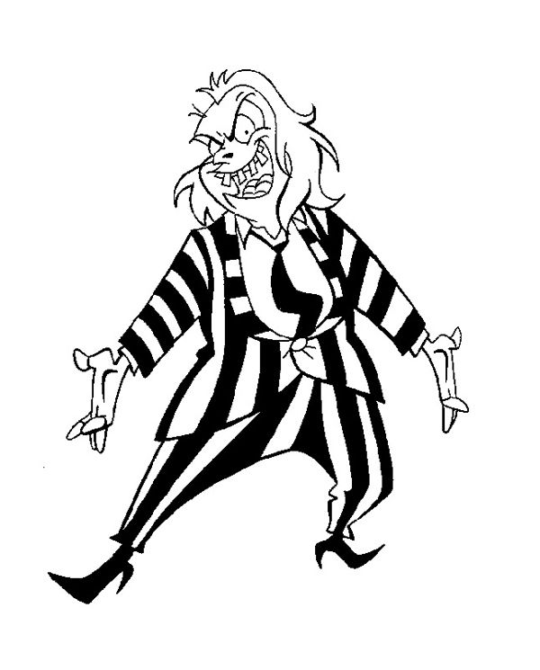 Beetlejuice Tv 1989 Model Sheet Drawing B02 Jpg 600 745 Beetlejuice Cartoon Beetlejuice Drawings