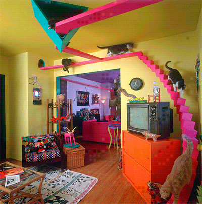 Puurrrfect Interior Design How To Make A Cat Friendly Home Movoto Real Estate Blog Crazy Cats Cat Tree House Cat Furniture