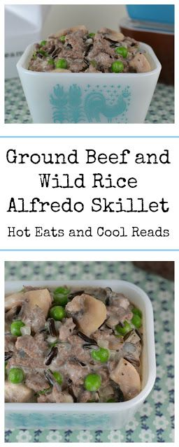 Ground Beef And Wild Rice Alfredo Skillet Recipe Ground Beef Food Substitutions Wild Rice Casserole