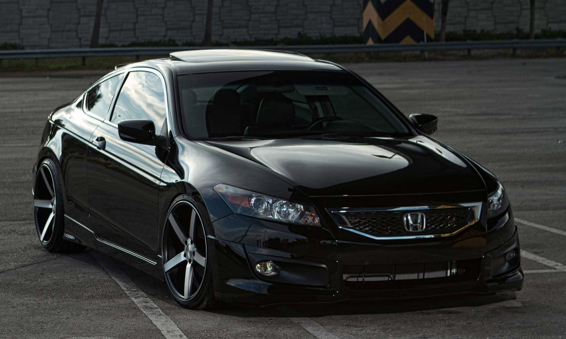Grey Accord Coupe Black Honda Accord Custom Rims Car Picture HD - Accord vehicle