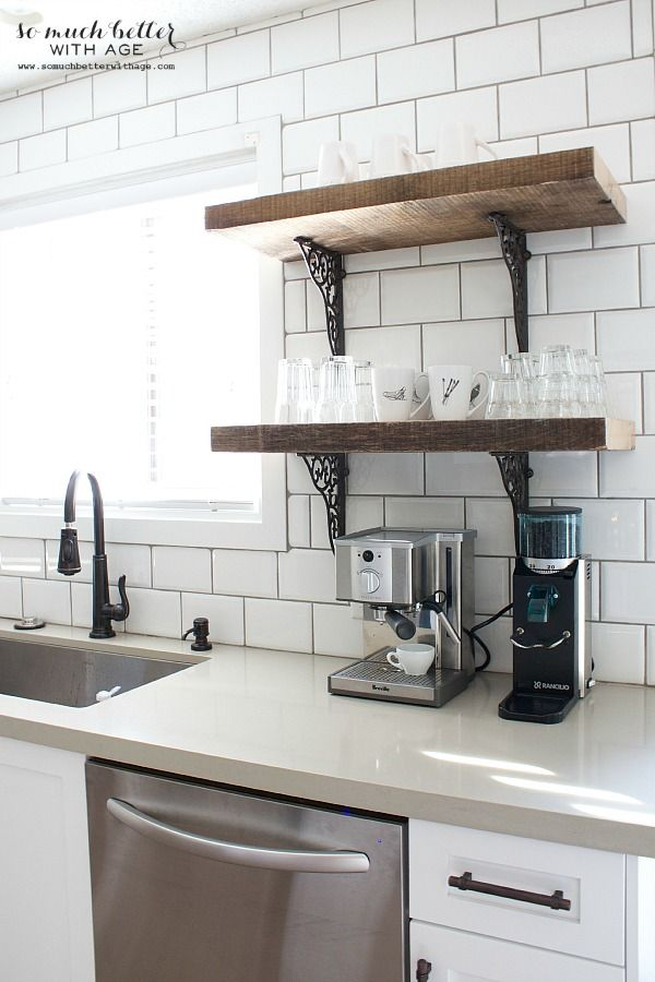 Charmant Rustic Industrial Kitchen Shelves | So Much Better With Age