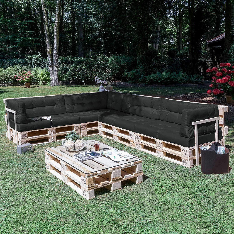 Coussin Matelas De 120x40x10 20cm Gris Anthracite Construire Des Meubles Canape Banquette Fauteui En 2020 Coussin Pour Palette Meuble Jardin Palette Meuble Jardin