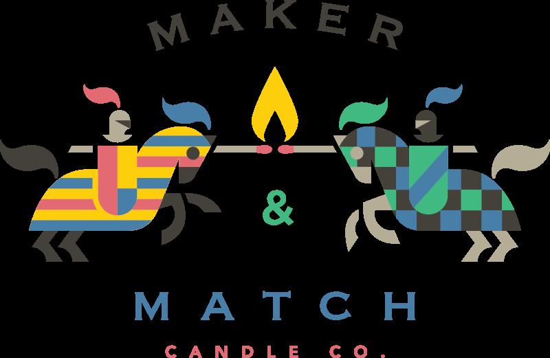 Maker & Match by Adam Anderson #logo #mark #brand #id #identity #knight #horse #fire #symbol #illustration