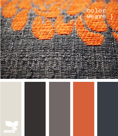 #Orange #Grey Perfect color scheme to go with my new grey couch! Light grey for the walls, maybe? I love orange.