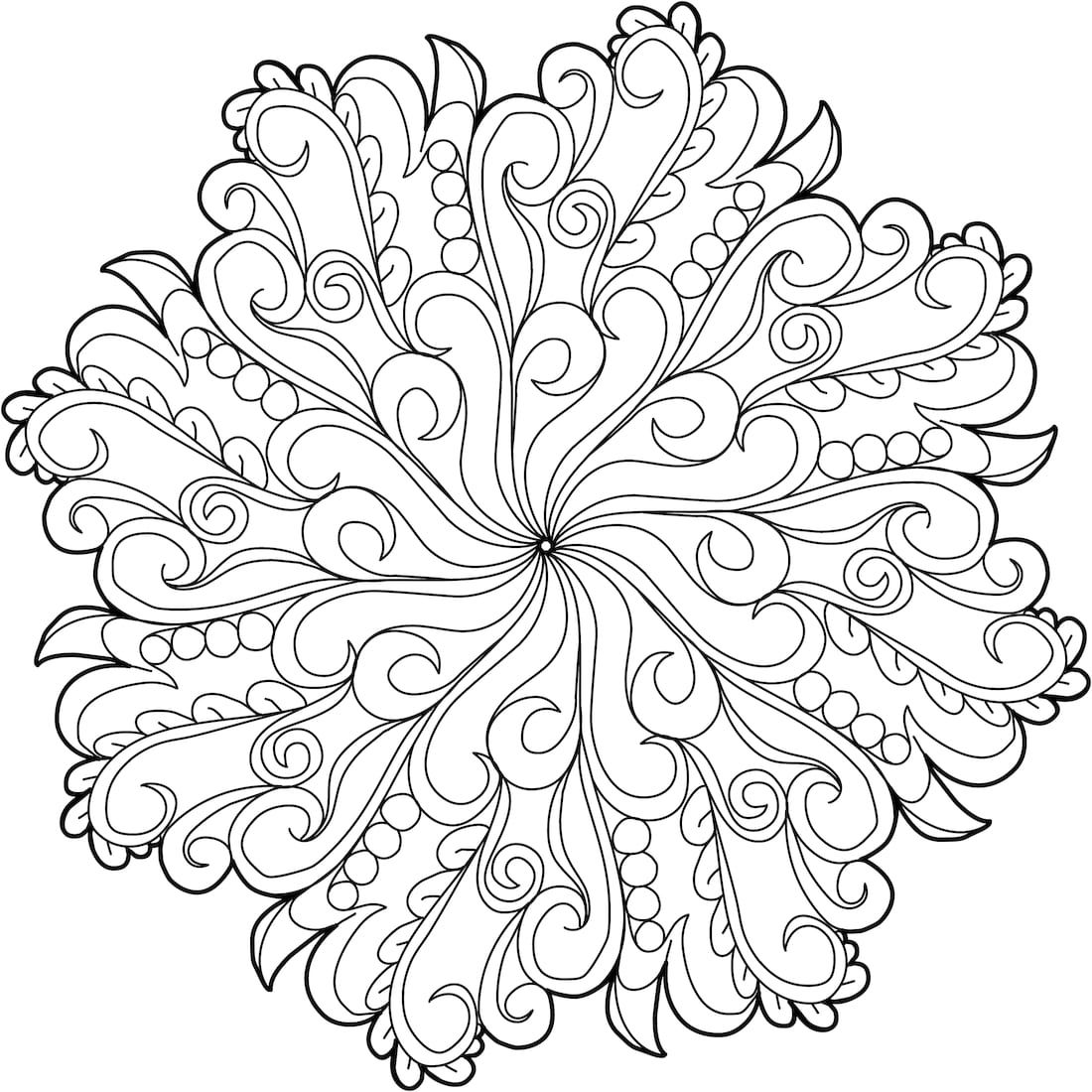Feathered Friend - a free printable coloring page. One of 100+! ...