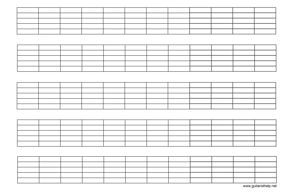 blank tablature music sheets - Google Search | Tablature ...