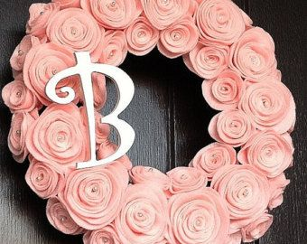 Items similar to Baby Wreath with Name for Hospital Room Door or Nursery on Etsy