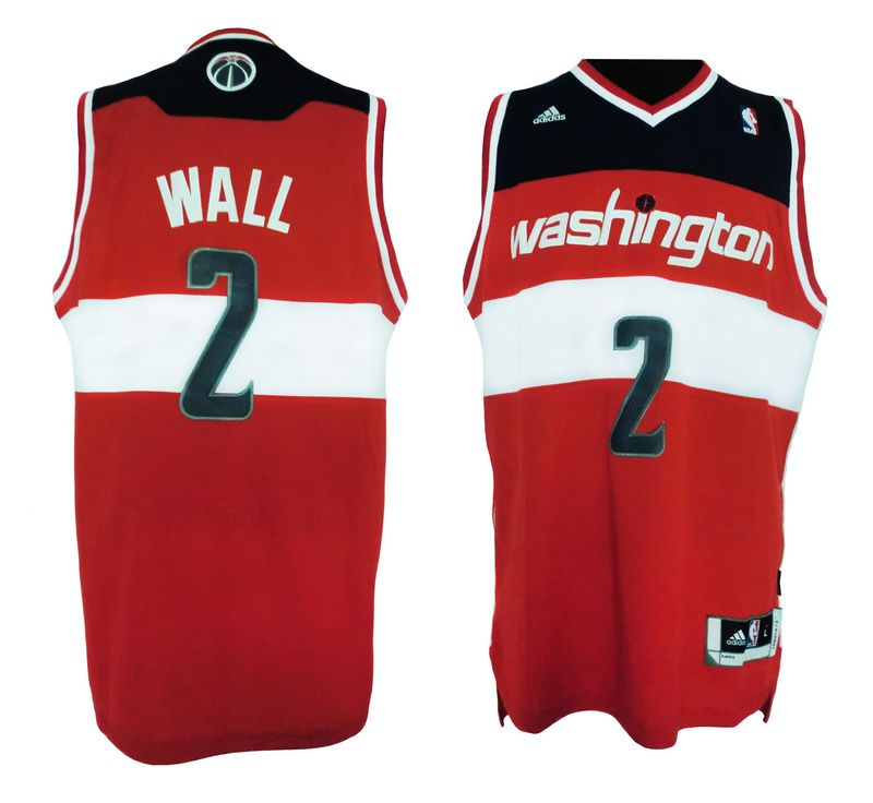 c9aaedf0a7e ... Adidas NBA Washington Wizards 2 John Wall New Revolution 30 Swingman  Road Red Jersey 21.99 ...