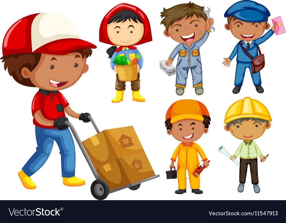 People doing different types of jobs Royalty Free Vector