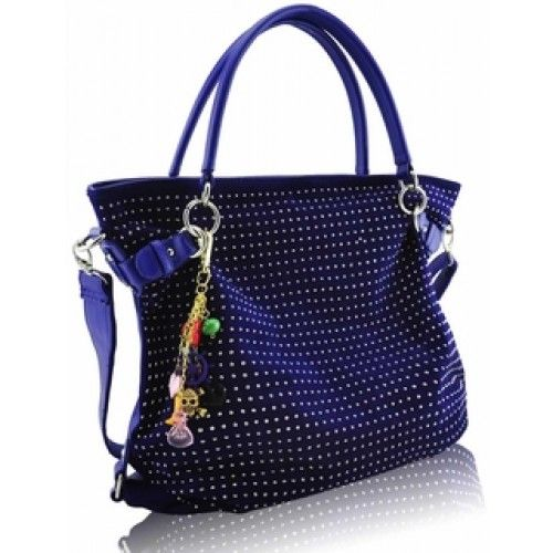 Blue Diamante Tote Shoulder Handbag Available in Different in Color's Shop @ http://bit.ly/1pdNgDW