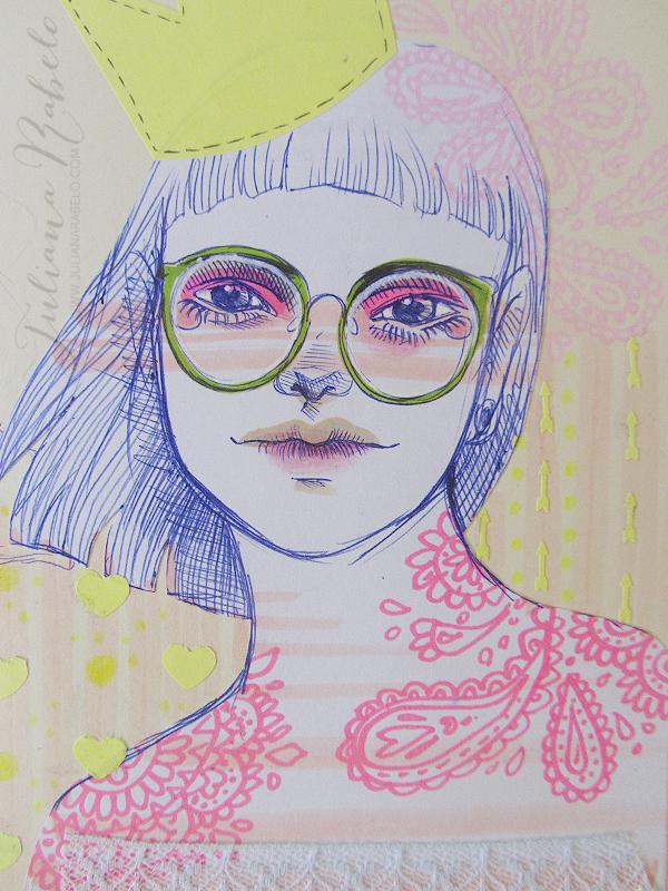 juliana rabelo | illustration: No meu sketchbook: colagens e experimentos