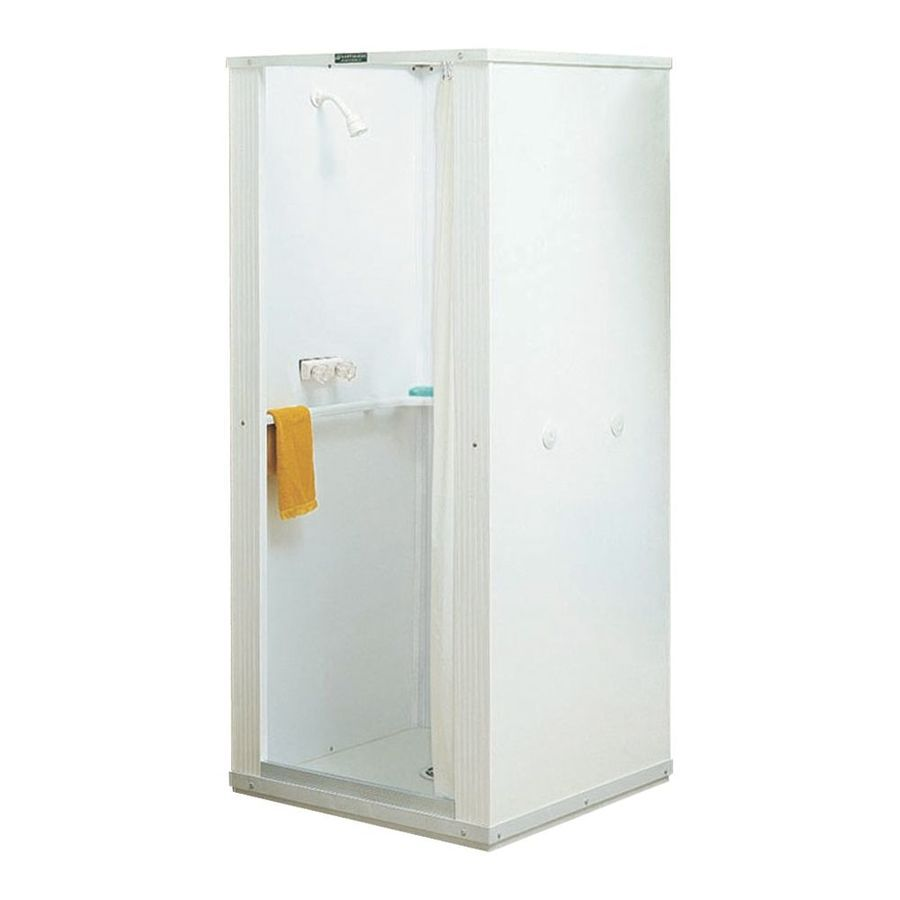 Mustee Durastall White Fiberglass Plastic Composite Wall And