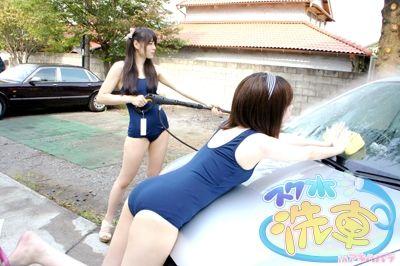 【画像】女の子がスク水で洗車してくれるサービスが秋葉原に登場