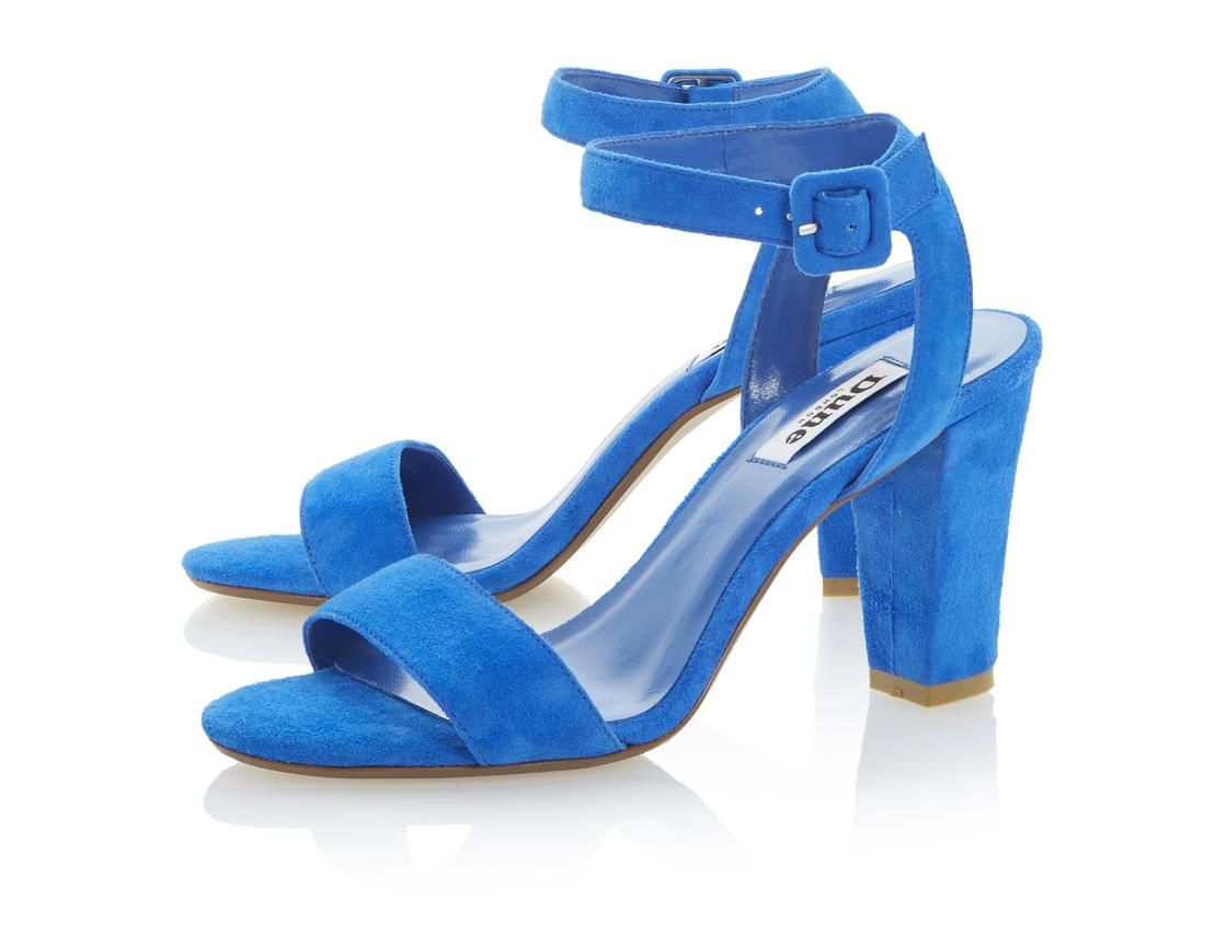 0ce7bdcd9d4a38 DUNE LADIES HARPERS - Two Part Ankle Strap Block Heel Sandal Dune Shoes  Online  dunelondon  duneshoes  sandals  dune  blue  bright  heels  fashion   style