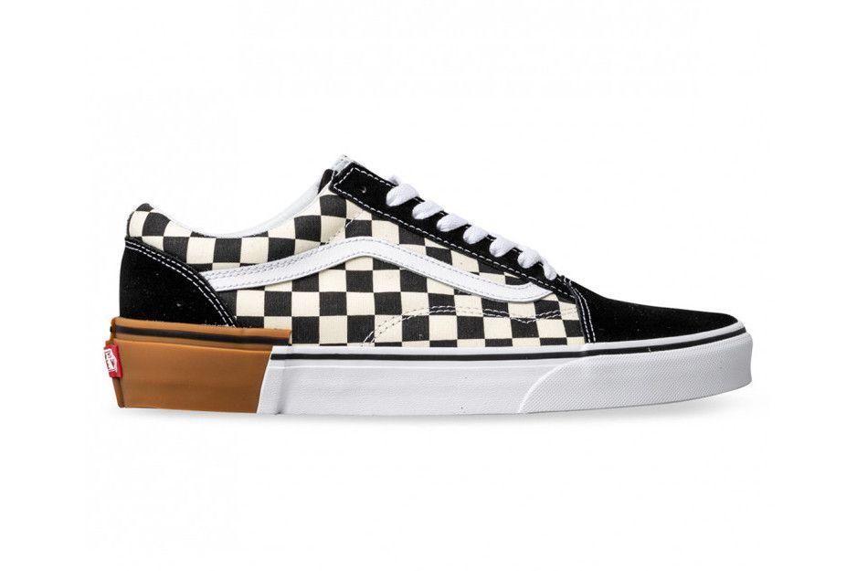 Vans Checkerboard Old Skool Authentic Get A Gum Sole Mashup Vans Checkerboard Vans Vans Old Skool Sneaker