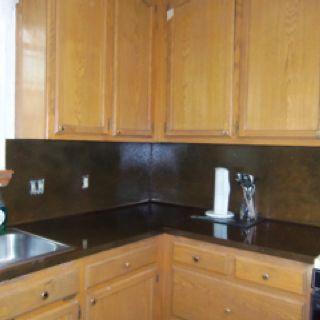 My painted & epoxy kitchen counters in progress | Kitchen ...