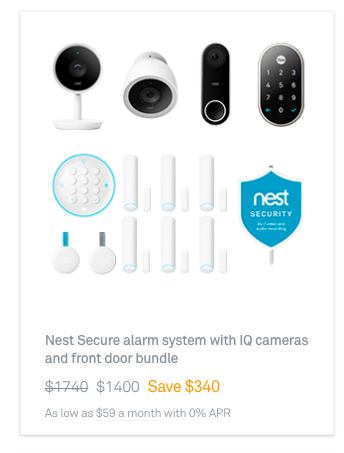 The Most Comprehensive Security Package Includes The Nest Secure Alarm System Our Home Security Systems Wireless Home Security Systems Wireless Home Security