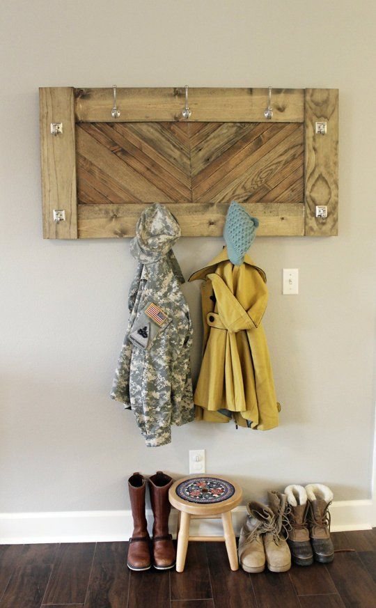 DIY Project Idea: How To Make A Herringbone Wall Coat Rack U2014 Apartment  Therapy Reader