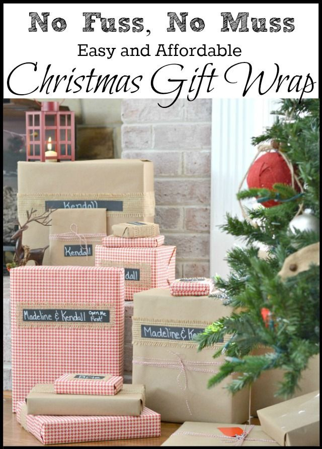 Pretty, Easy and Affordable Christmas Gift Wrapping   Pinterest ...
