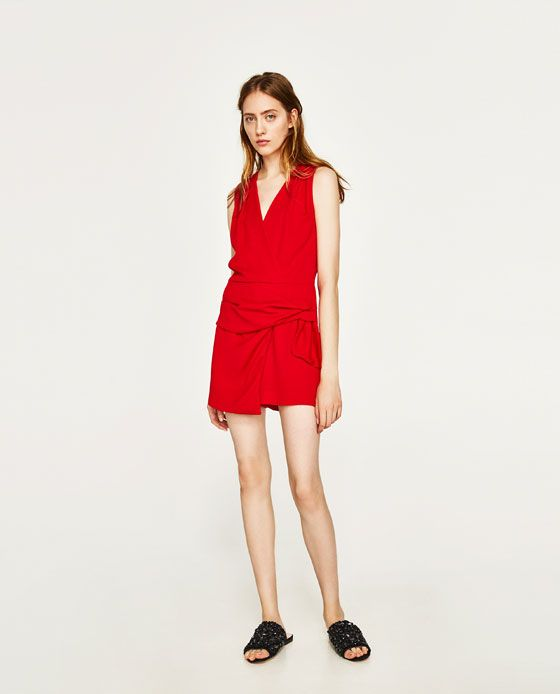 fcfe3429 MONO DETALLE NUDO in 2019 | clothes | Zara red dress, Red playsuit ...